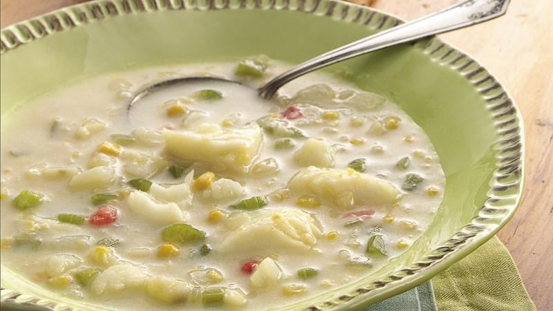 Fish chowder recipe from betty crocker for Fish soup cod
