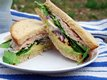Overstuffed Turkey, Avocado & Spinach Sandwich with Lemon