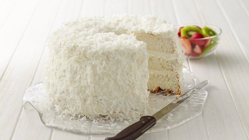 Key Lime Coconut Angel Cake recipe from Betty Crocker