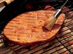 Grilled Ham Steak with Mustard Sauce