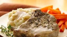 Pork Chops with Mustard-Thyme Gravy Recipe