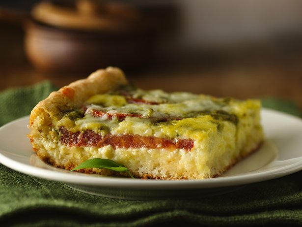 Tomato-Pesto Brunch Bake