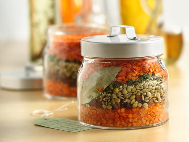 Layered Lentil Soup in a Jar
