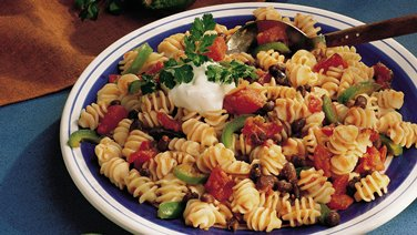Black Bean-Pasta Cancun (Cooking for 2)