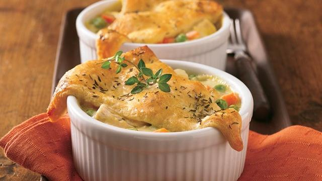 Mini Crescent Chicken Pot Pies