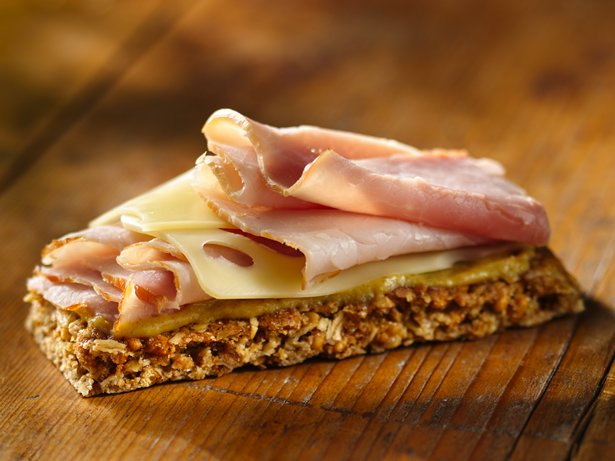 Ham and Cheese Campfire Canapé