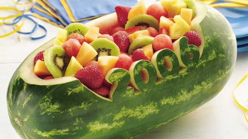 Carved Watermelon Bowl
