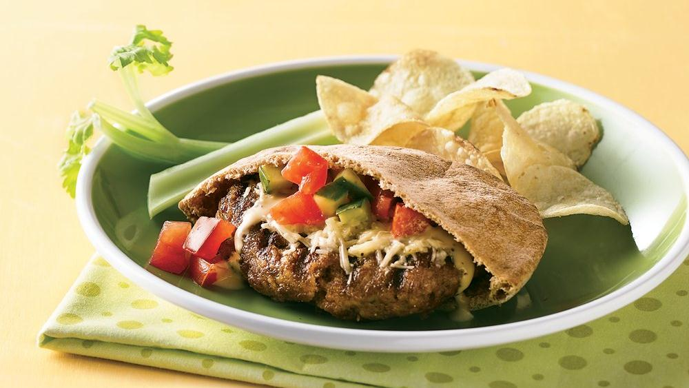 Caesar Pita Burgers