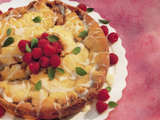 Raspberry-White Chocolate Coffee Cake
