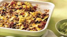 Beef and Bean Tortilla Bake Recipe
