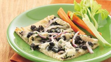 Mojo Black Bean-Chicken Pizza