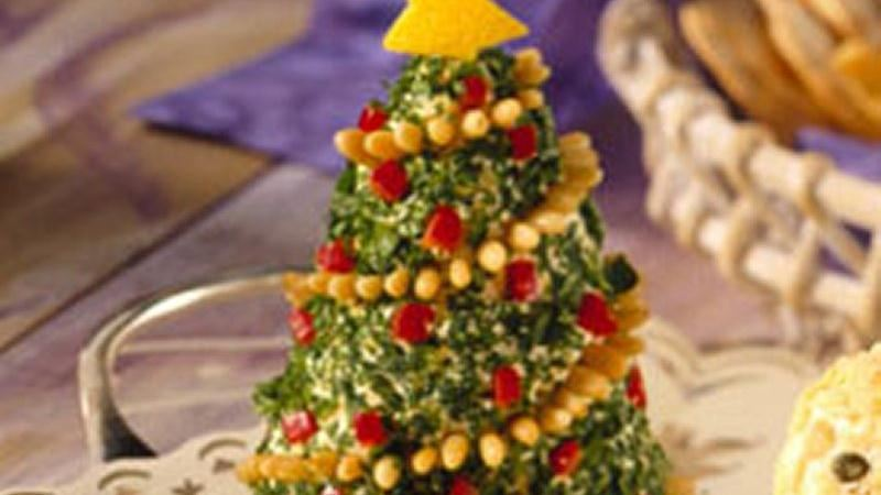 Appetizer cheese trees recipe from betty crocker - Christmas tree shaped appetizers ...