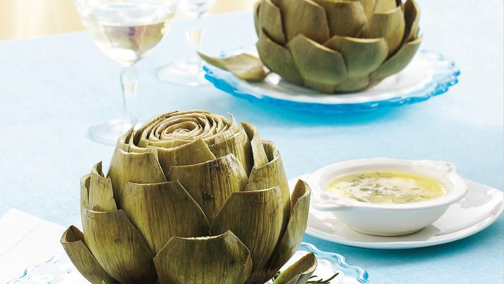 Artichokes with Rose