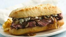 Blue Cheese Steak Sandwiches Recipe