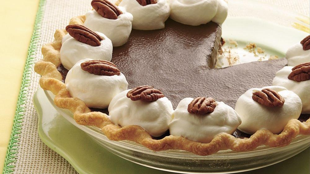 Chocolate-Nut Truffle Pie