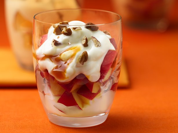 Caramel Apple Yogurt Parfaits