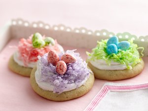 Easter&#32;Nest&#32;Cookies