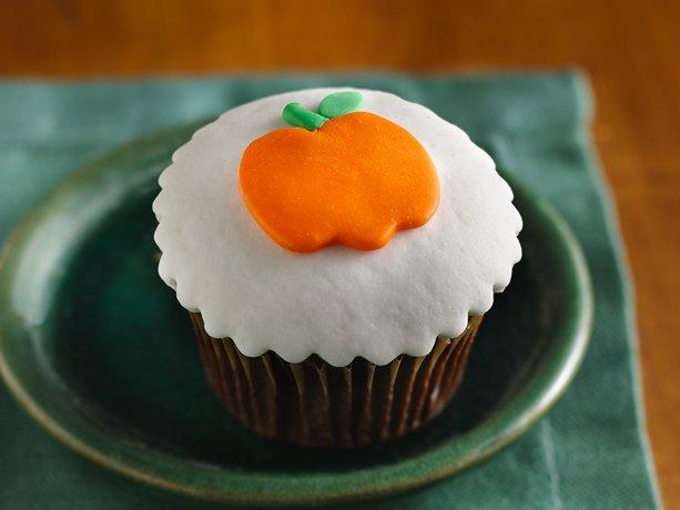 Naranja-chocolate relleno con pasta de azúcar Cupcakes