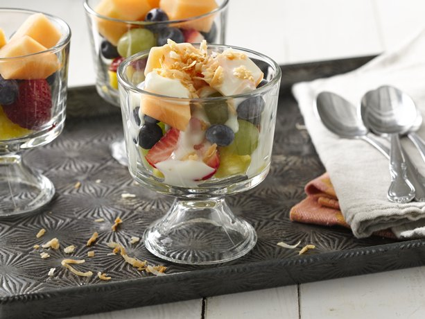 Layered Yogurt Fruit Salad