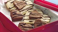 Chocolate-Almond Layered Hearts Recipe