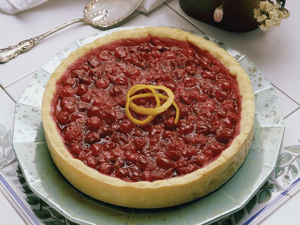 Honey-Wine-Cranberry Tart