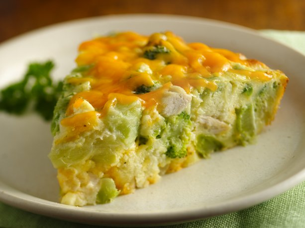 Gluten Free Impossibly Easy Chicken &#39;n Broccoli Pie