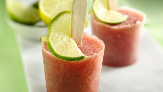 Watermelon Mojito Cocktail Pops