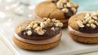 Chocolate-Hazelnut-Peanut Butter Sandwich Cookies