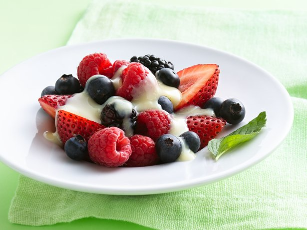 Mixed Berries with Vanilla Anglaise