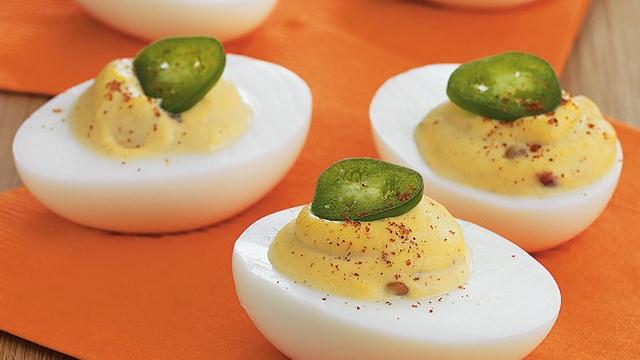 Fiery Deviled Eggs