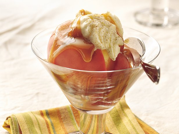 Baked Apples with Rum-Caramel Sauce