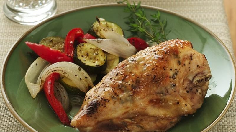 Maple-Thyme Roasted Chicken Breasts