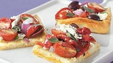 Greek Flatbread Squares Recipe