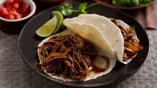 Slow-Cooker Chile and Roasted Garlic Beef Brisket Tacos