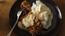 Chicken Fried Steak with Garlic Cream Gravy Recipe