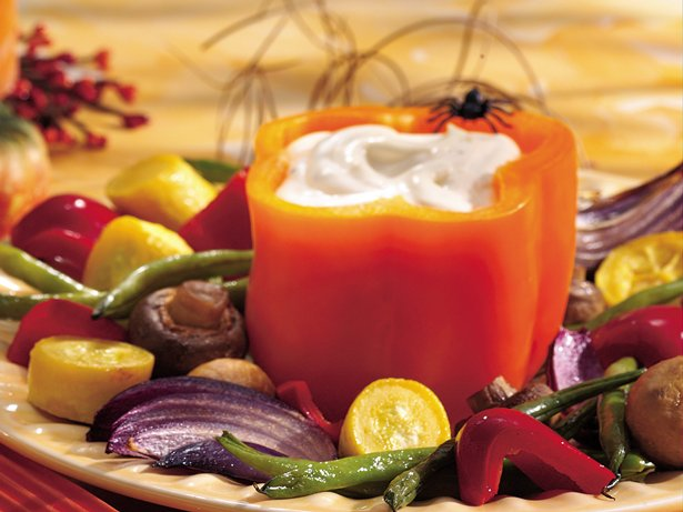 Roasted Vegetables with Spicy Aoli Dip