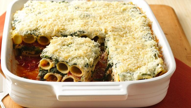 your dinner with this delicious pasta and cheese layered casserole ...