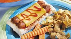 Grilled Dogs on a Raft Recipe