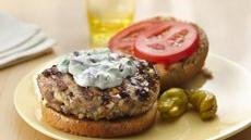Greek Turkey Burgers with Tzatziki Sauce Recipe
