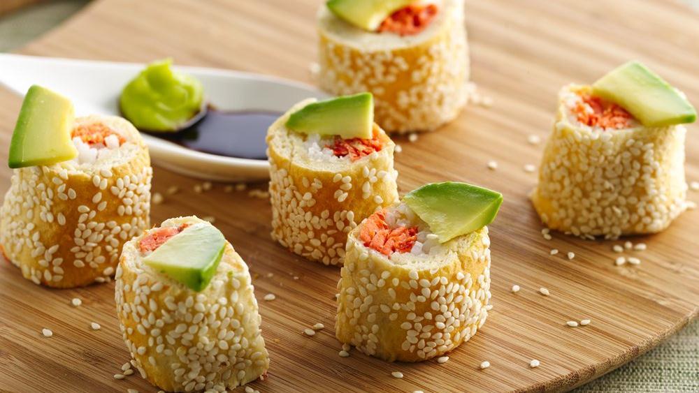 Salmon Crescent Sushi Rolls