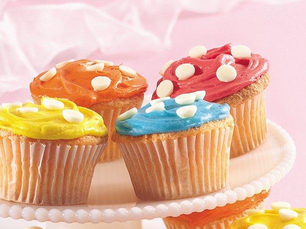 Primavera Polka Cupcakes de punto
