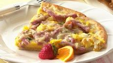 Ham & Chile Brunch Pizza Recipe