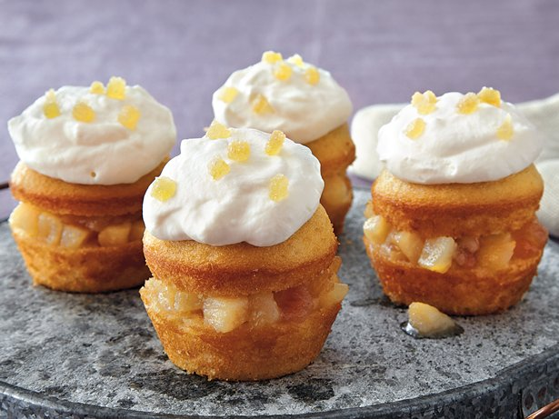 Honey Cream Pear Cupcakes