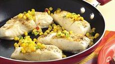 Skillet Fish with Quick Corn Relish Recipe