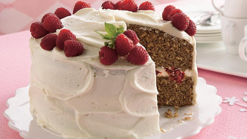 Spice Cake with Raspberry Filling and Cream Cheese ...
