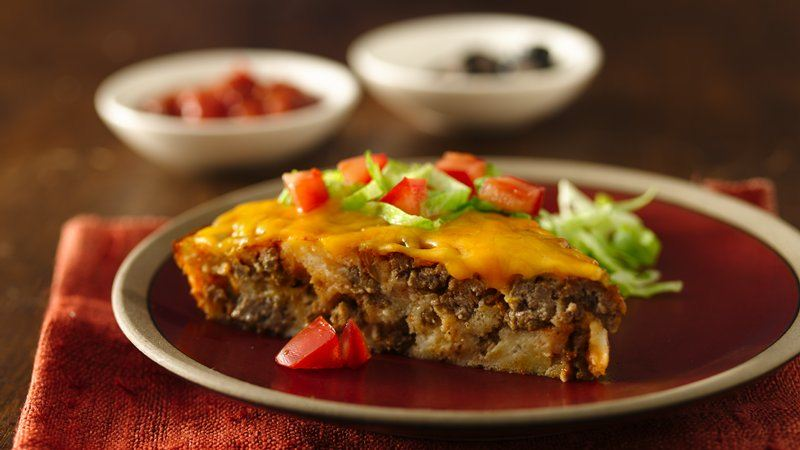 Impossibly Easy Taco Pie recipe from Betty Crocker