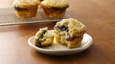 Blueberry-Almond Crme Muffins Recipe