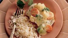 Cheesy Fish and Vegetables Recipe