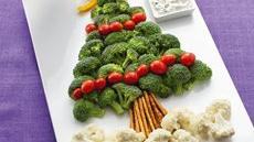 Christmas Tree Vegetable Platter Recipe