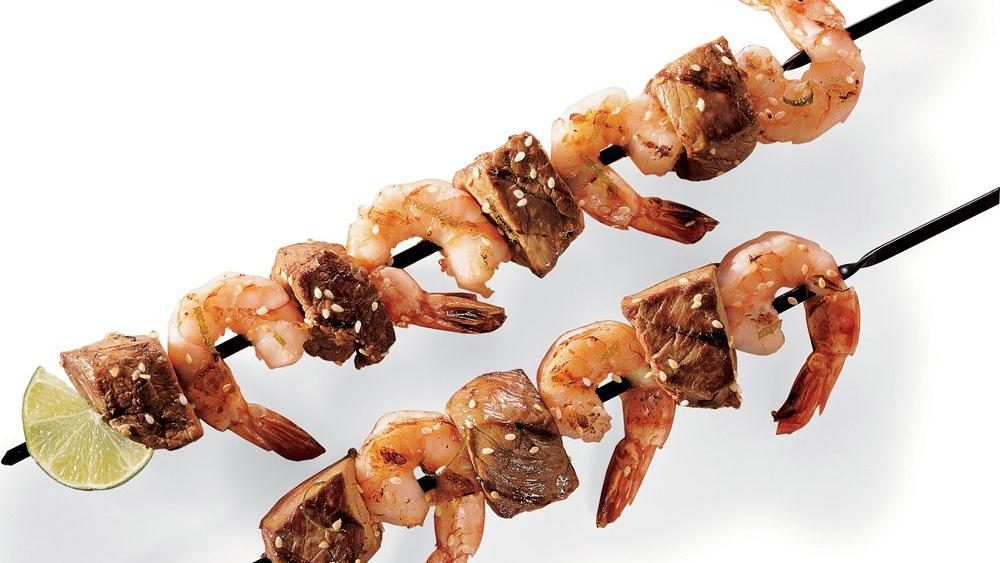 Beef and Shrimp Kabobs